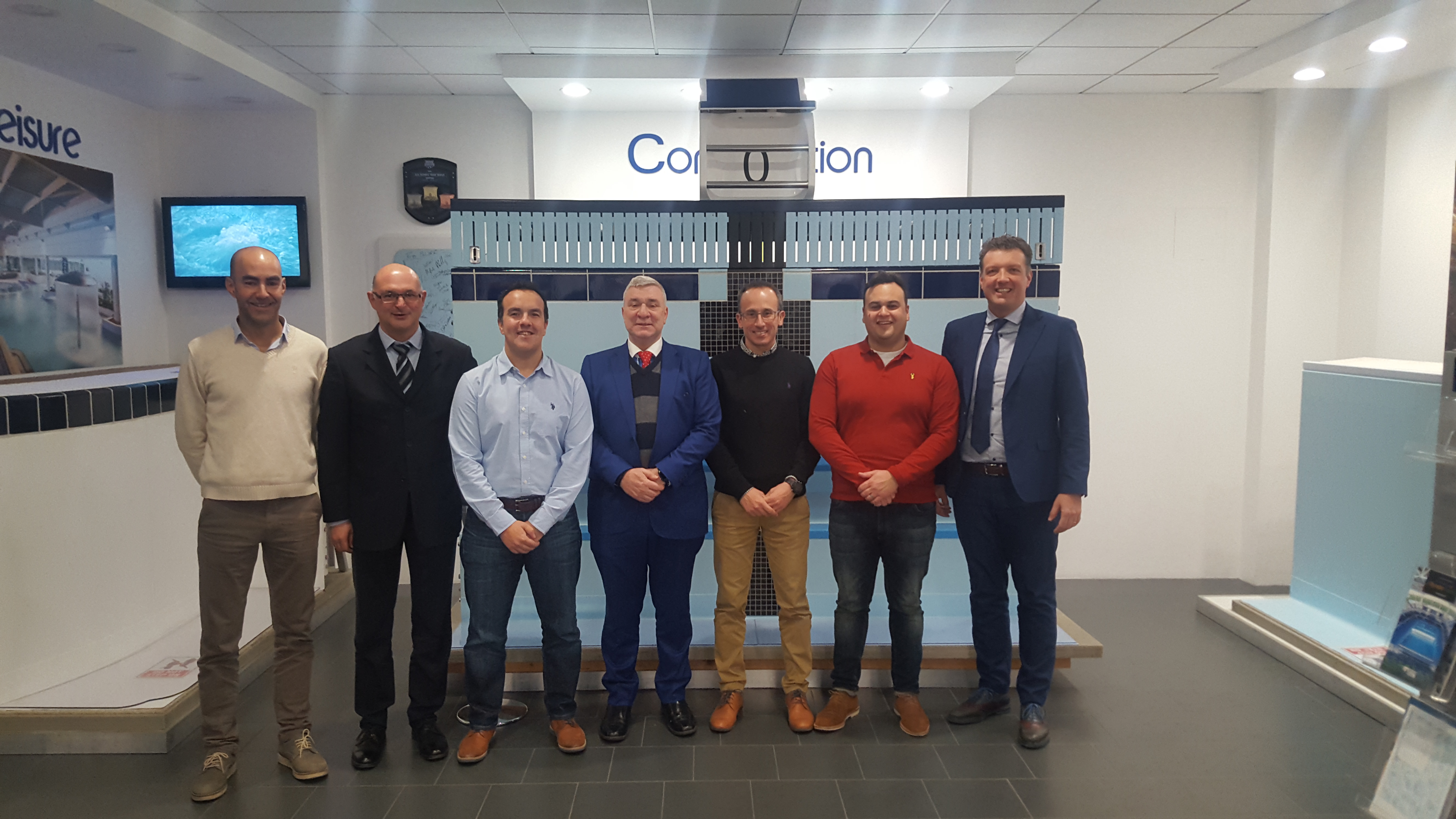 Minister for Sport heads delegation to Myrtha Pools Headquarters